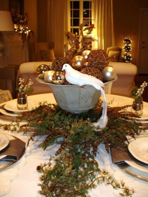 Zentralstück für den Tisch dIY Weihnachtsdeko
