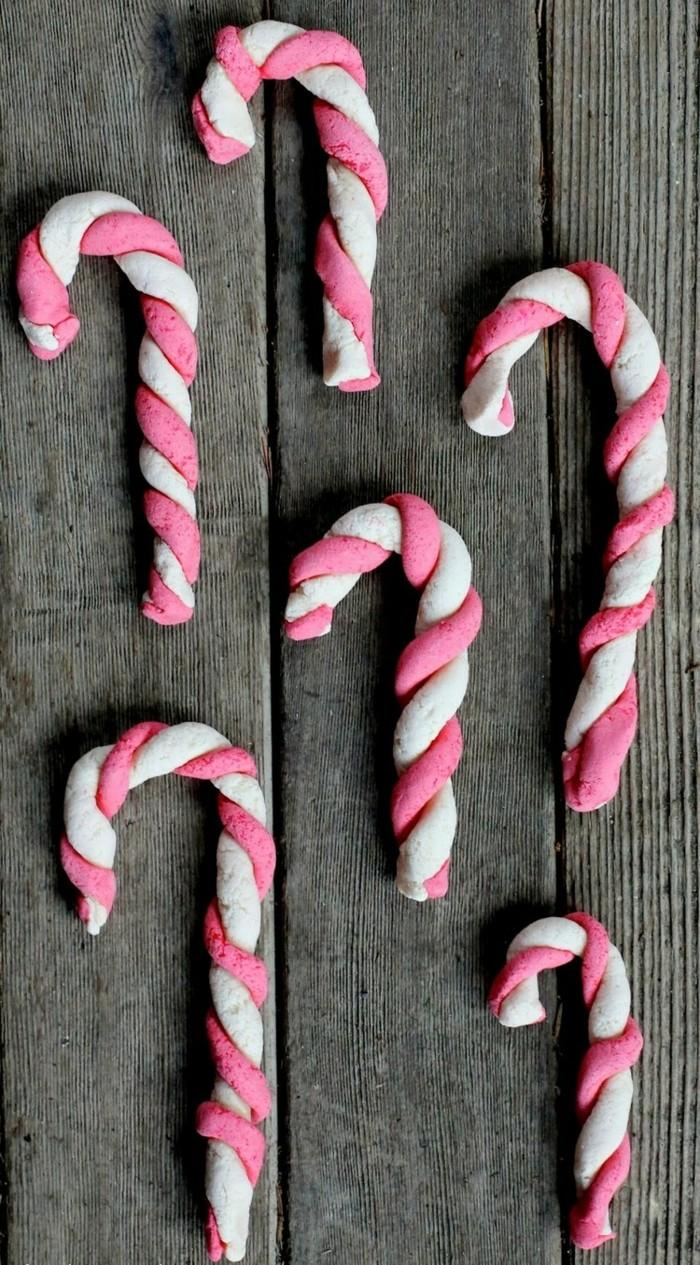 basteln mit salzteig farbige dekoanhänger rosa weiß