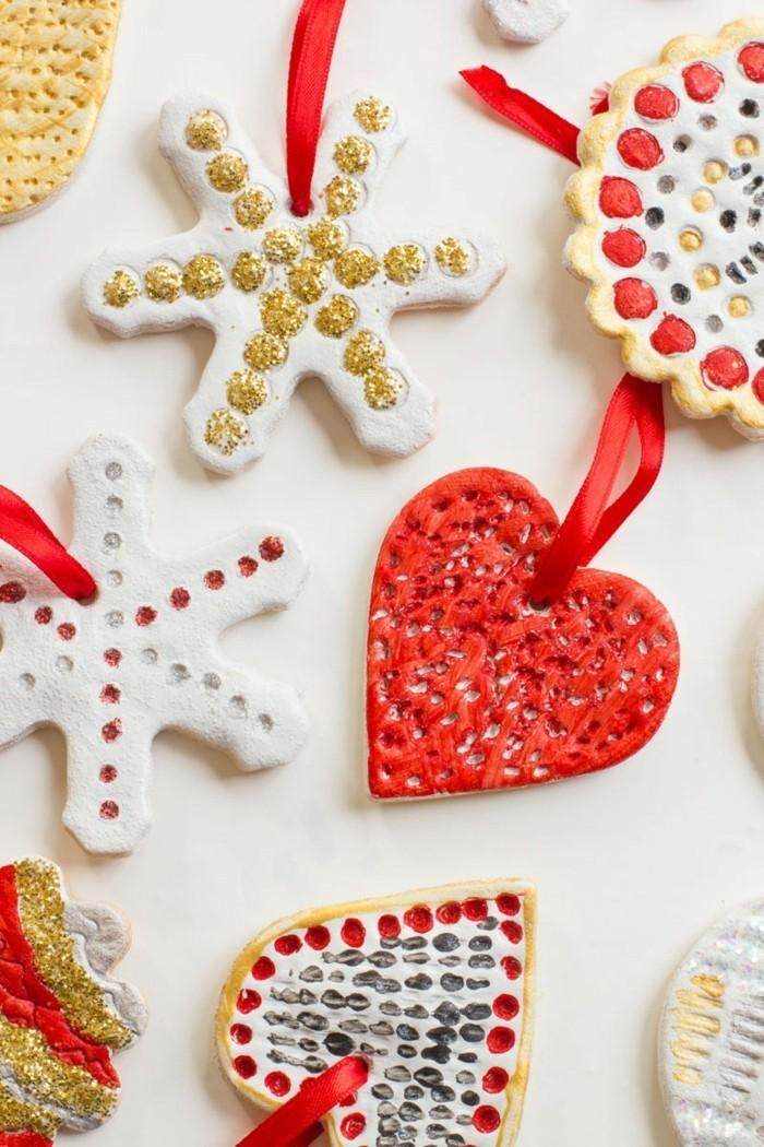 basteln mit salzteig frische weihnachtsdeko selber machen