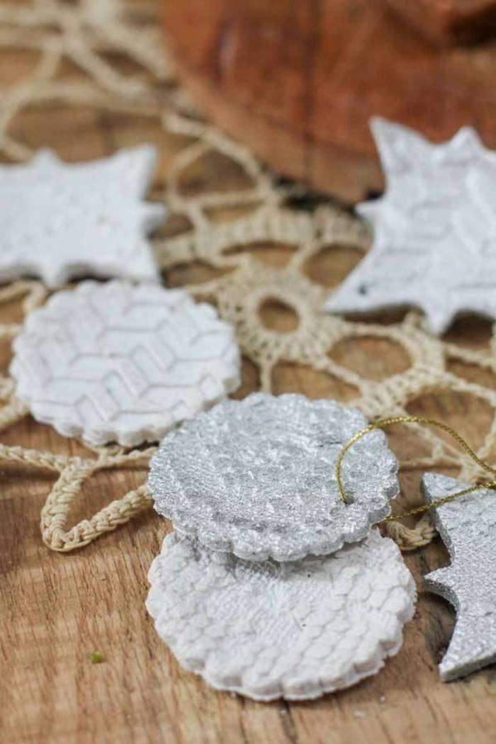 basteln mit salzteig schicke weihnachtsdeko selber machen
