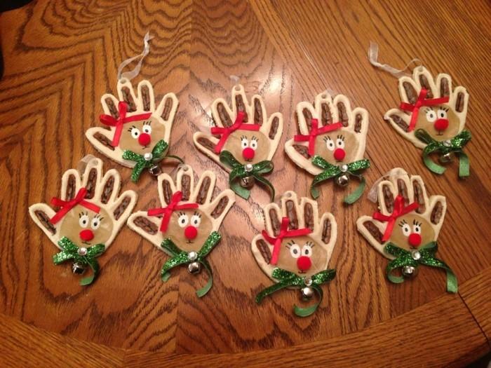 basteln mit salzteig weihnachten rodolf weihnachtsbaumanhänger