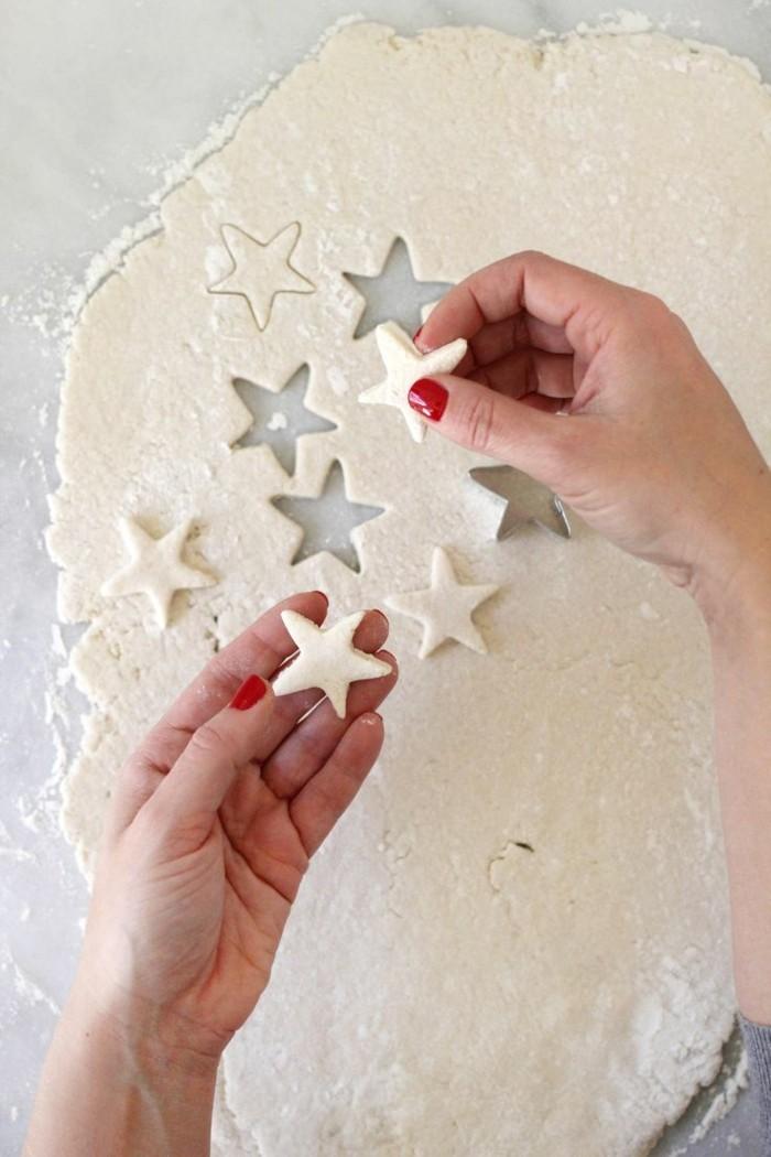 basteln mit salzteig weihnachten weihnachtssterne
