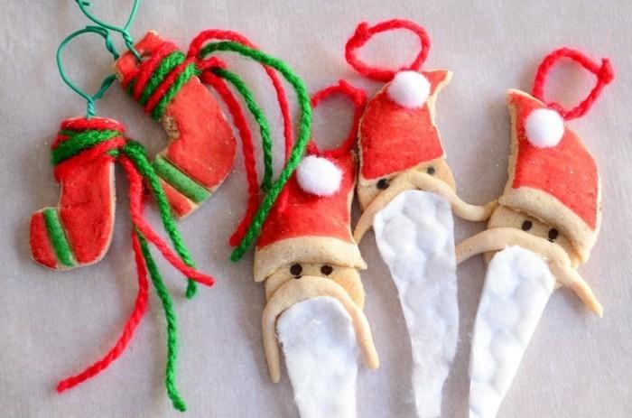 basteln mit salzteig weihnachtsmann figuren