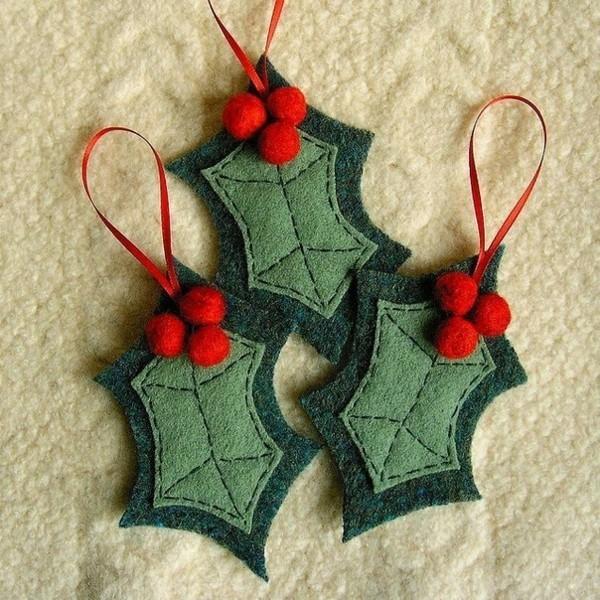 christbaumschuck ideen filz weihnachtsdeko selber basteln
