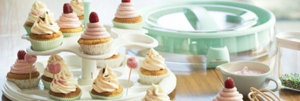 cupcake vintage farben etagere