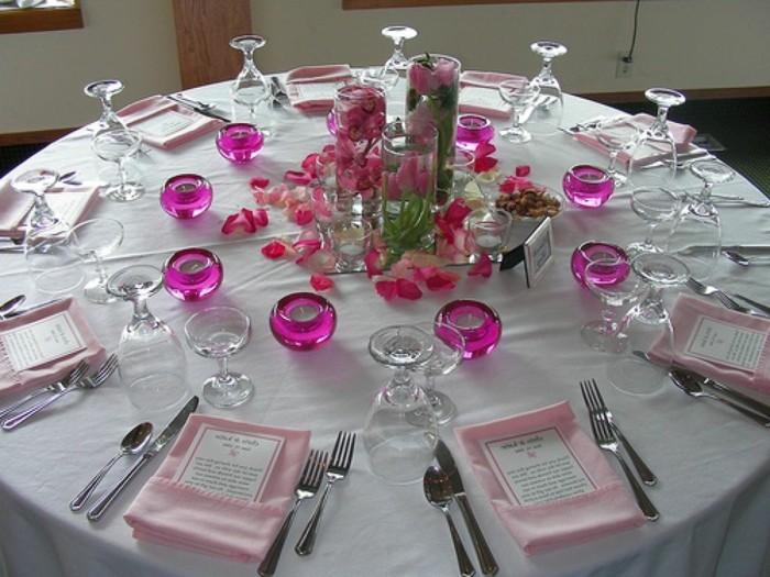 diy tischplacements in rosa