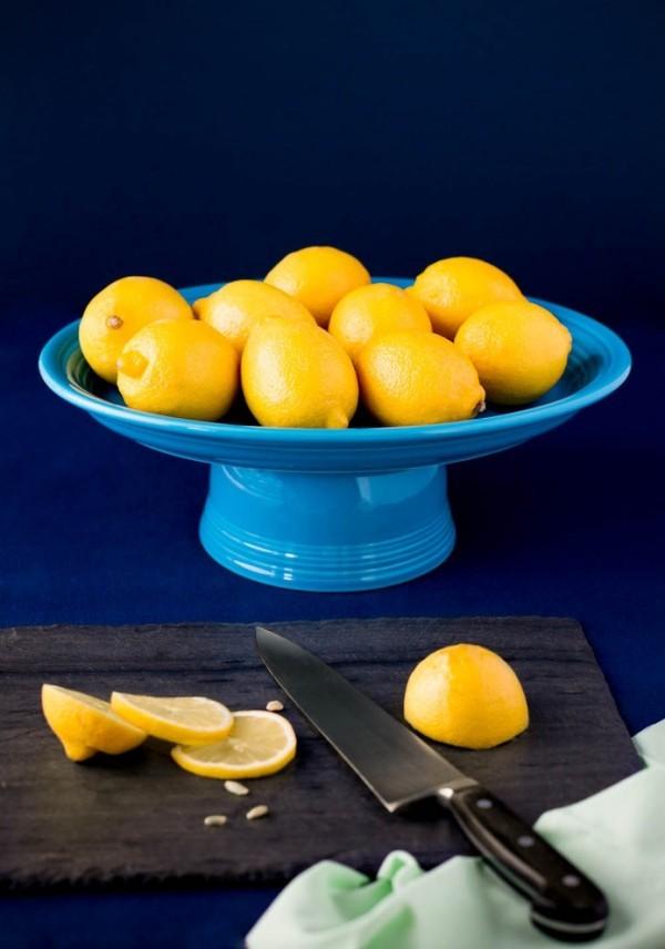diy tortenständer deko früchte