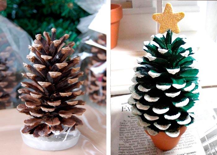 diy weihnachtstischdeko tischdeko mit tannenzapfen