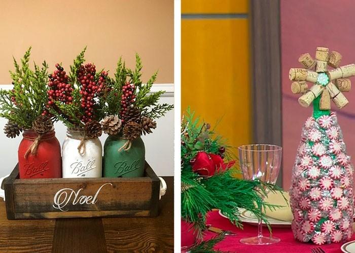 diy weihnachtstischdeko ideen mit korken und einweckgläsern