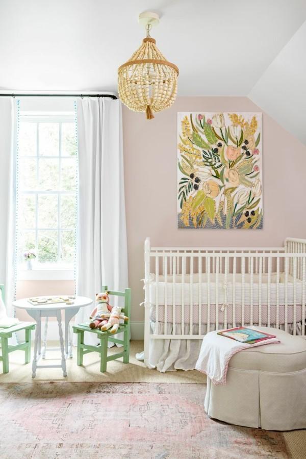 einrichtungsideen kinderzimmer vintage teppich weiße möbel - Копие
