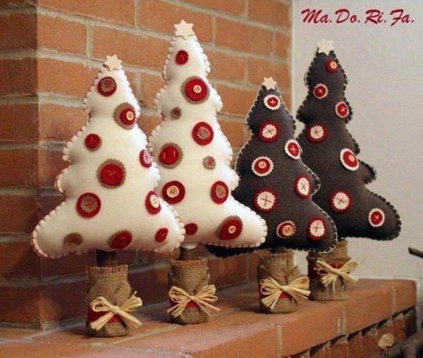 filz weihnachtsbäume weihnachtsdeko selber basteln
