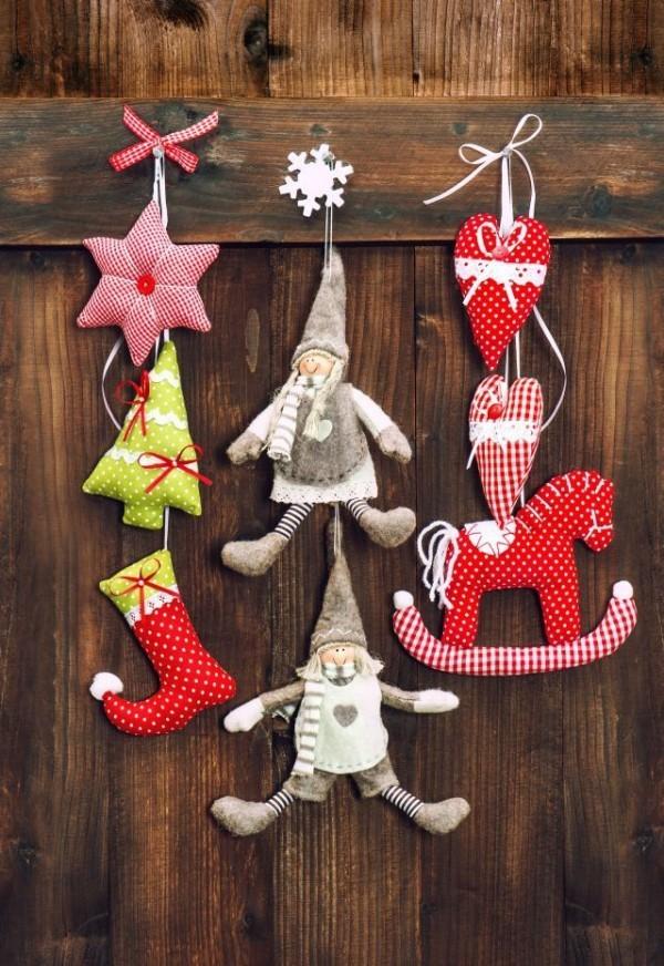 filz weihnachtsdeko selber basteln wanddekoration ideen