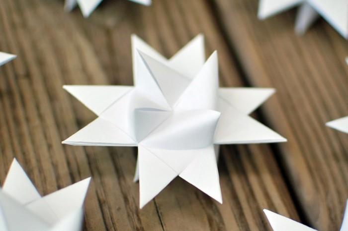 fröbelstern basteln aus papier weiß