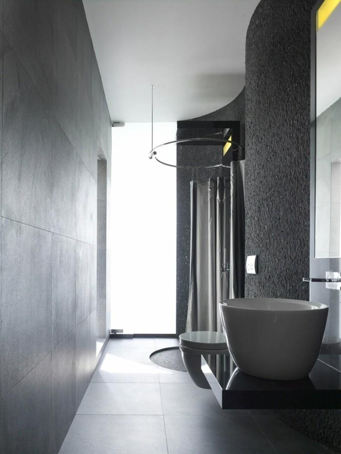 fugenloses bad graues badezimmer männliche ausstrahlung moderne einrichtung