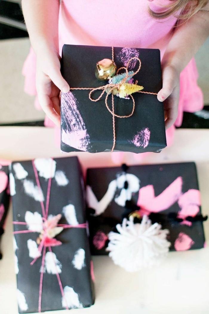 geschenke origenell verpacken weihanchtsbasteln geschenkideen abstrakt