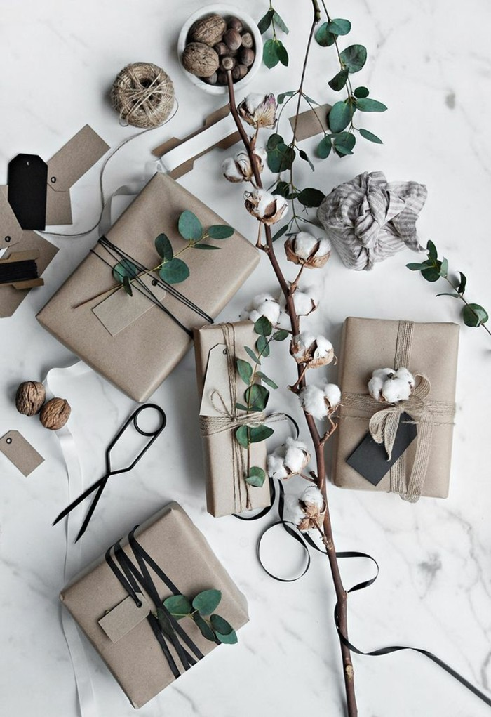 geschenke origenell verpacken weihanchtsbasteln geschenkideen baumwolle