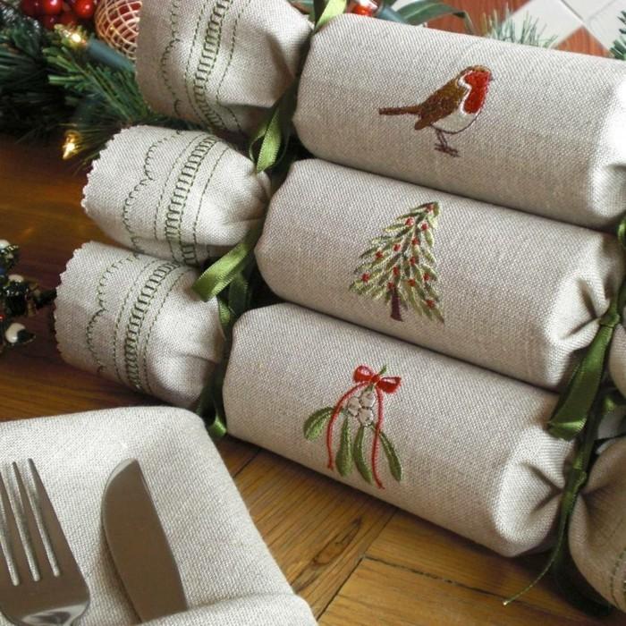 geschenke origenell verpacken weihanchtsbasteln geschenkideen bestickt