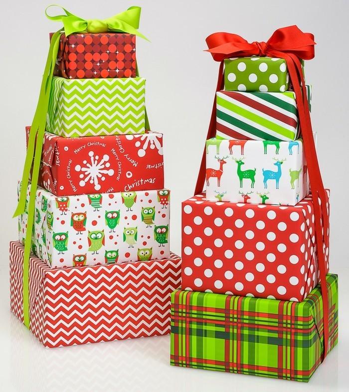geschenke origenell verpacken weihanchtsbasteln geschenkideen buntes papier