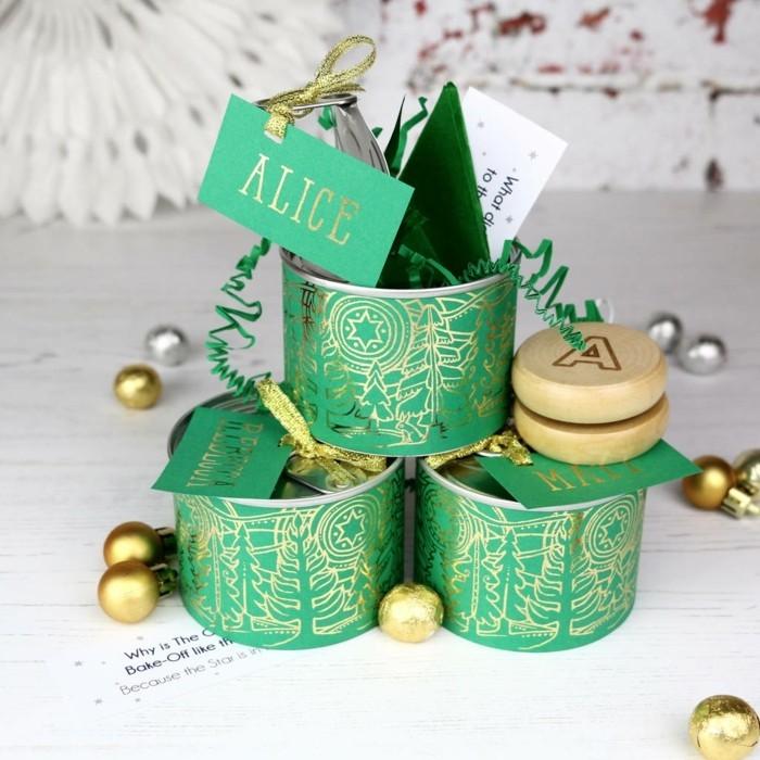 geschenke origenell verpacken weihanchtsbasteln geschenkideen dosen