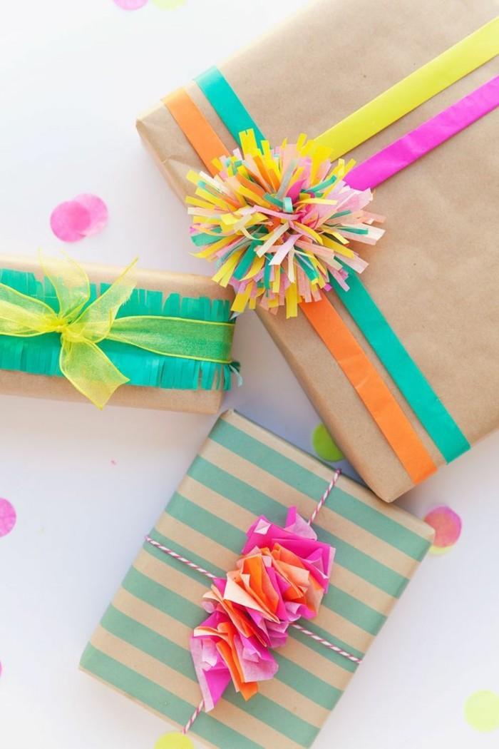 geschenke origenell verpacken weihanchtsbasteln geschenkideen farbgestaltung