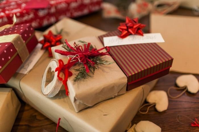 geschenke origenell verpacken weihanchtsbasteln geschenkideen farbwahl