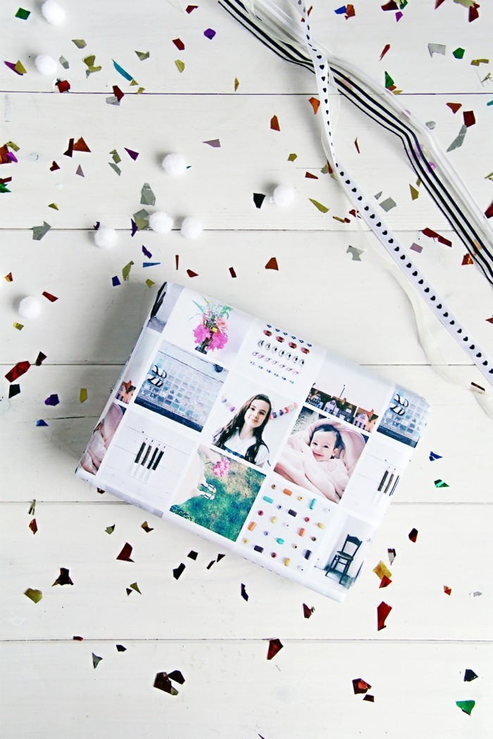geschenke origenell verpacken weihanchtsbasteln geschenkideen fotocollage