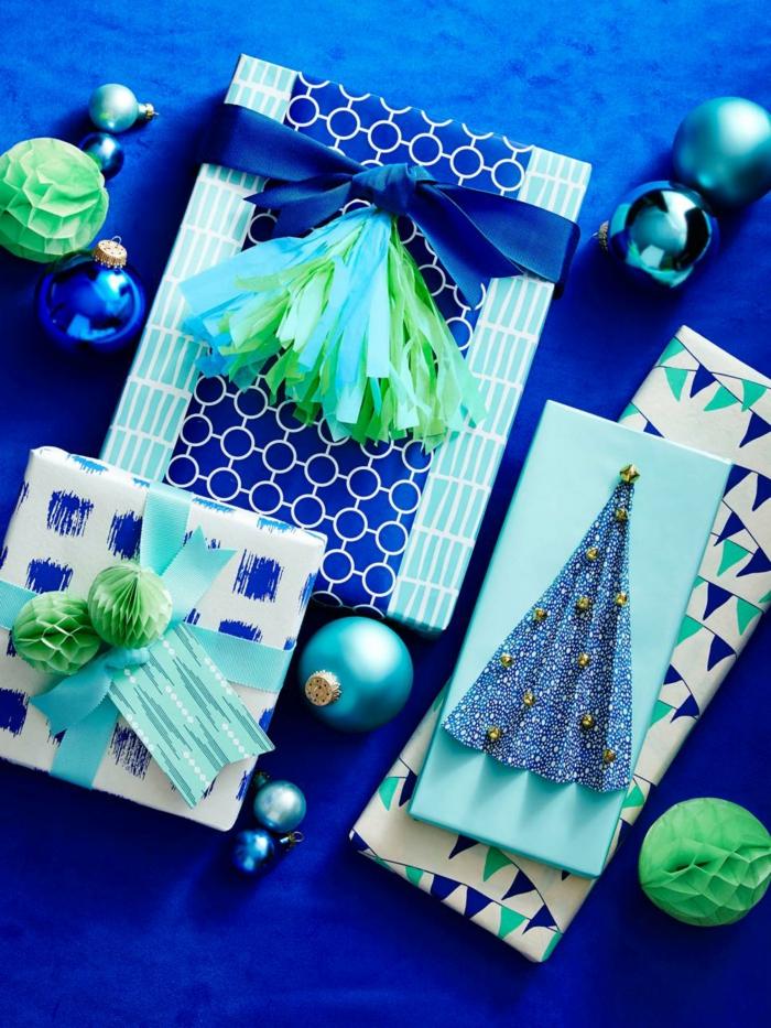 geschenke origenell verpacken weihanchtsbasteln geschenkideen geldgeschenke blau