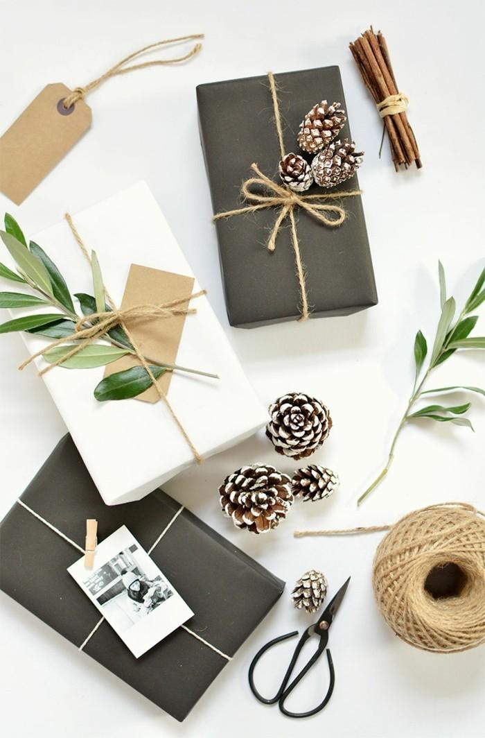 geschenke origenell verpacken weihanchtsbasteln geschenkideen geschenkpapier selber machen