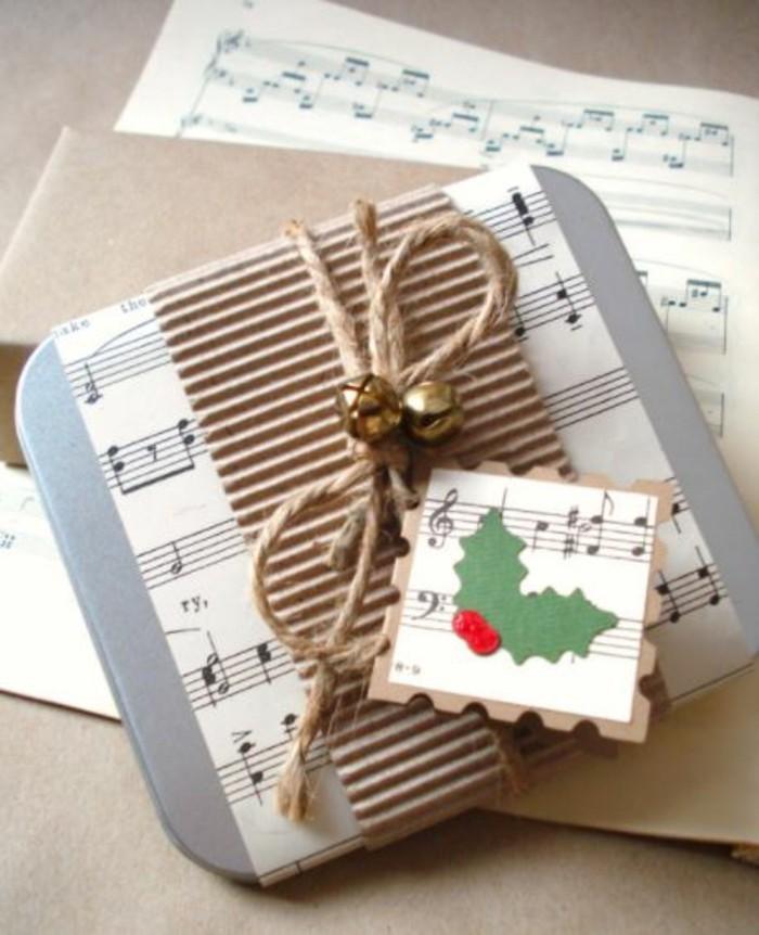 geschenke origenell verpacken weihanchtsbasteln geschenkideen notenblat