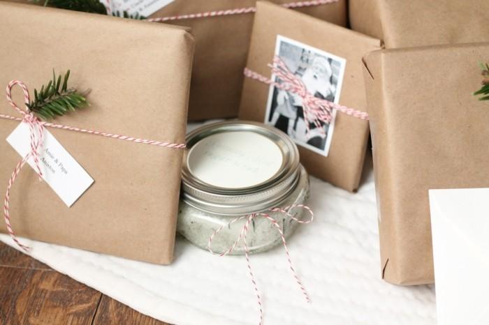 geschenke origenell verpacken weihanchtsbasteln geschenkideen recycling ideen