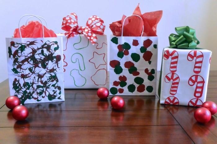 geschenke origenell verpacken weihanchtsbasteln geschenkideen weisse tuete