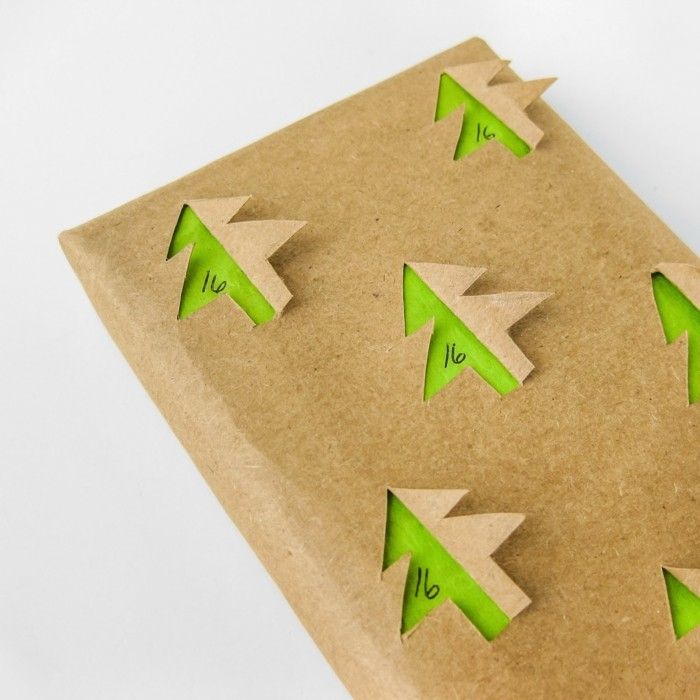 geschenkpapier weihnachten diy ideen advent