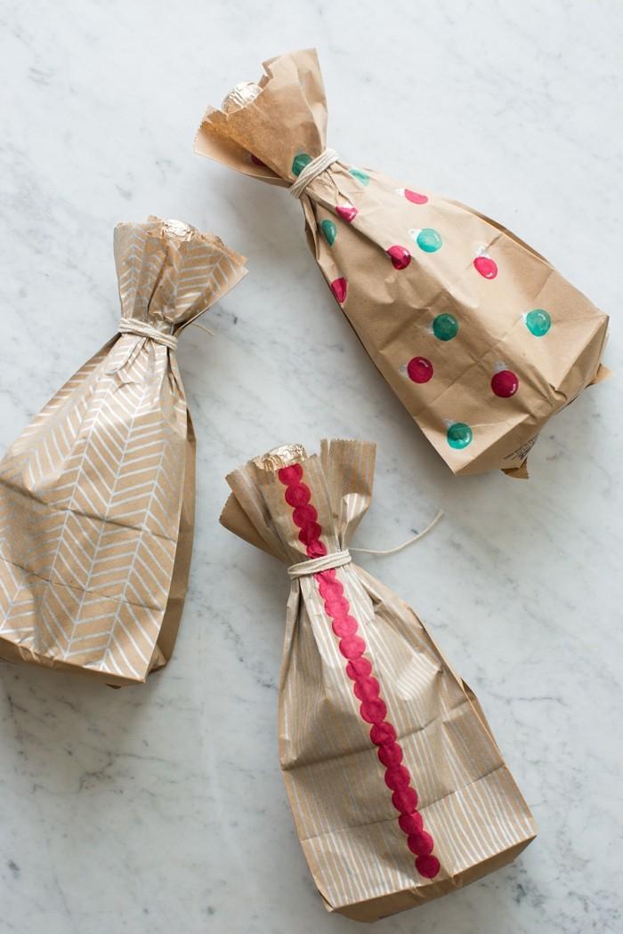 geschenkpapier weihnachten diy ideen brottuete