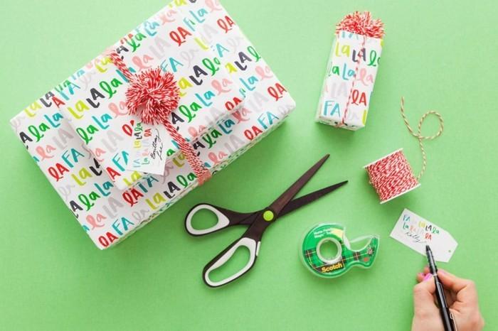 geschenkpapier weihnachten diy ideen festliche stimmung