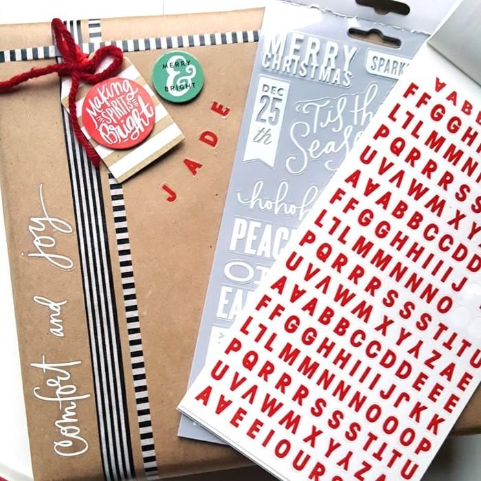 geschenkpapier weihnachten diy ideen freie gestaltung
