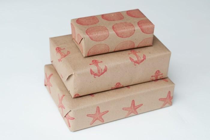 geschenkpapier weihnachten diy ideen geschenkpapier bedrucken