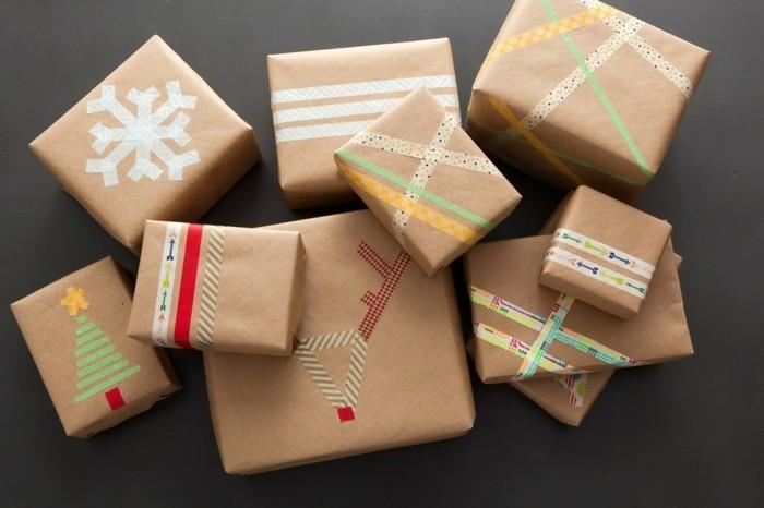 geschenkpapier weihnachten diy ideen kleben