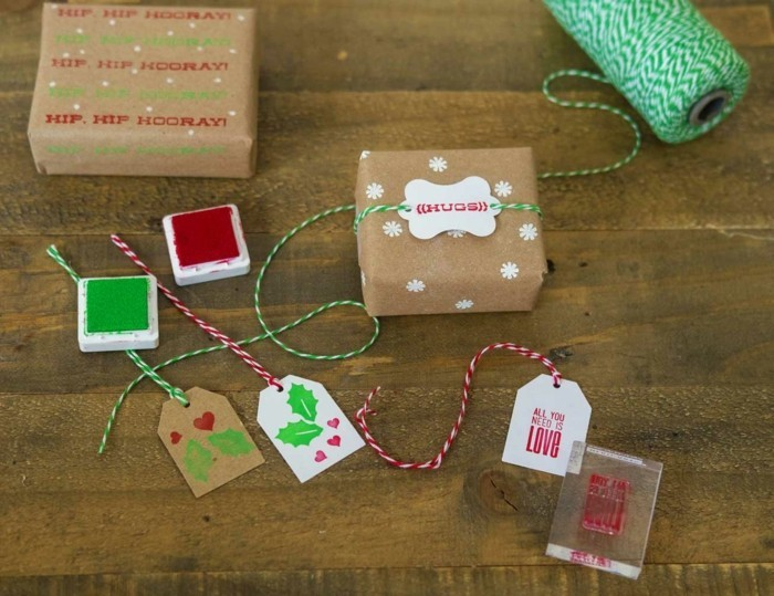 geschenkpapier weihnachten diy ideen kreativ