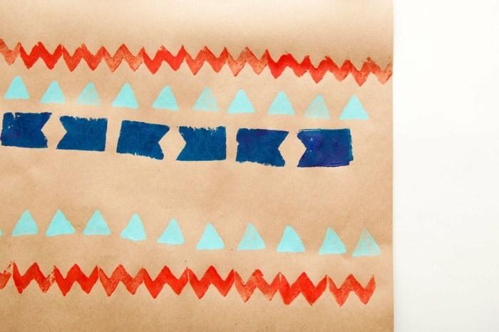 geschenkpapier weihnachten diy ideen kreativ mit kindern