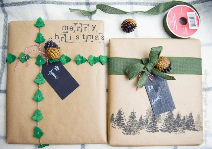 geschenkpapier weihnachten diy ideen kreative geschenkideen
