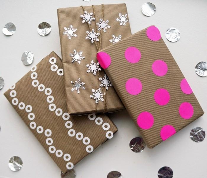 geschenkpapier weihnachten diy ideen lustige gesichter einfach und gut