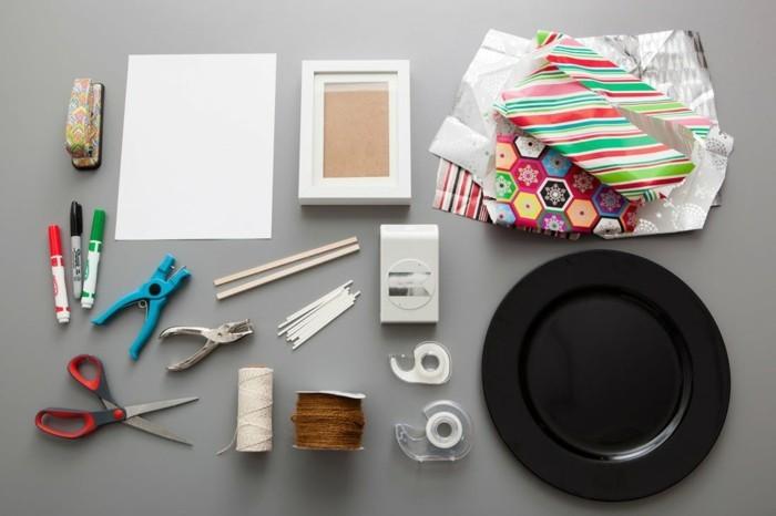geschenkpapier weihnachten diy ideen materialien vorbereiten