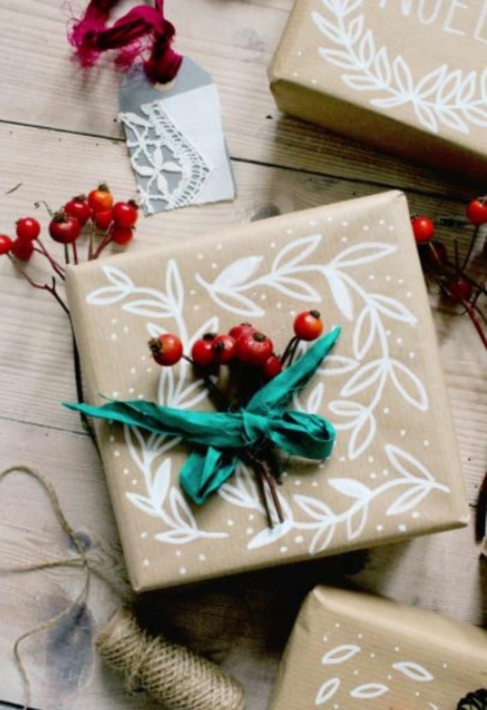 geschenkpapier weihnachten diy ideen mit konturen