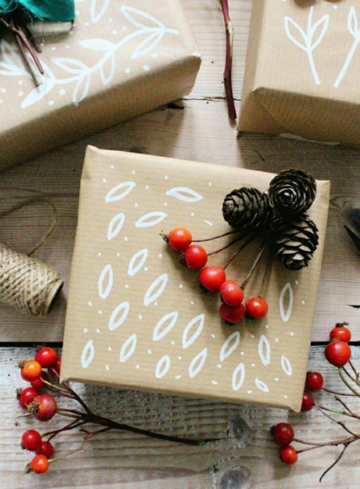 geschenkpapier weihnachten diy ideen muster
