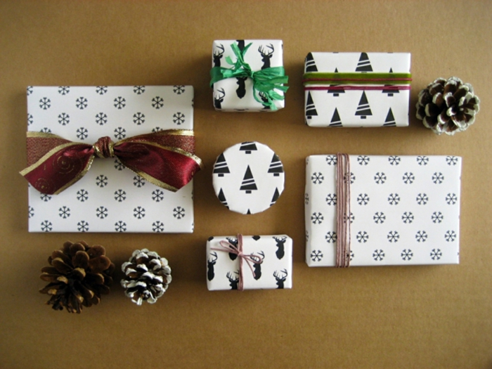 geschenkpapier weihnachten diy ideen muster weihnachten