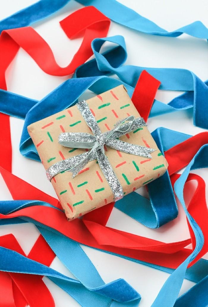 geschenkpapier weihnachten diy ideen striche