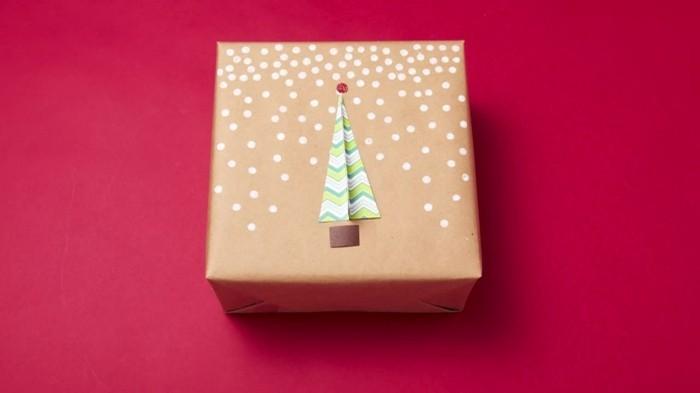 geschenkpapier weihnachten diy ideen tannenbaum