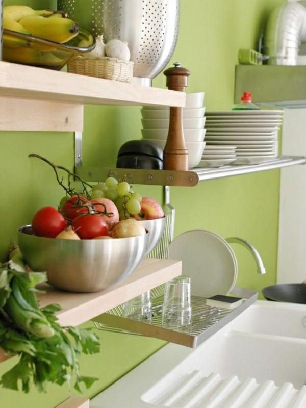 hölzerne küchenschränke
