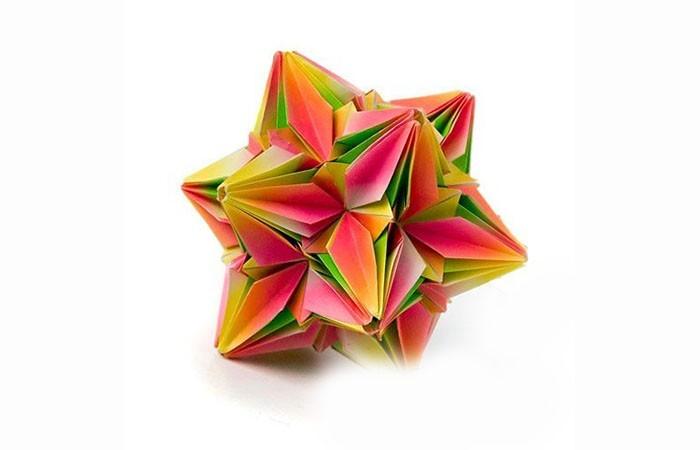 herrnhuter stern selber basteln 3d weihnachtsstern origami