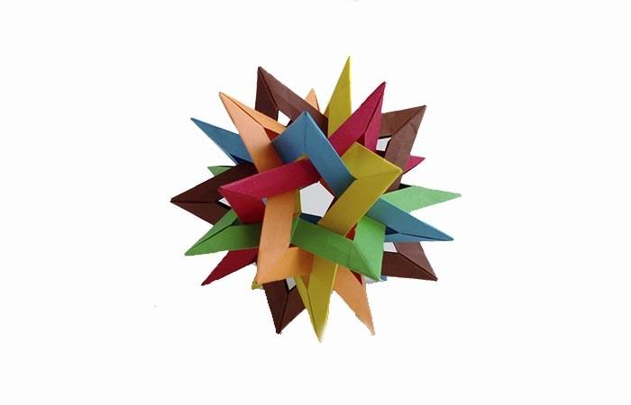 herrnhuter stern selber basteln aus buntem papier
